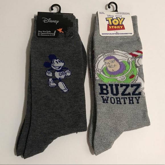 Disney Underwear Socks Toy Story Men Sock Bundle Mickey Buzz New